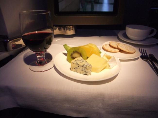 機内チーズ