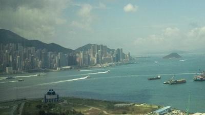香港島サイドを望む