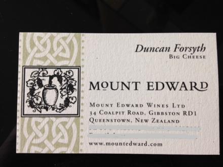 Mt.Edward Duncanの名刺