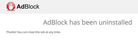 Adblockを削除しましたー。
