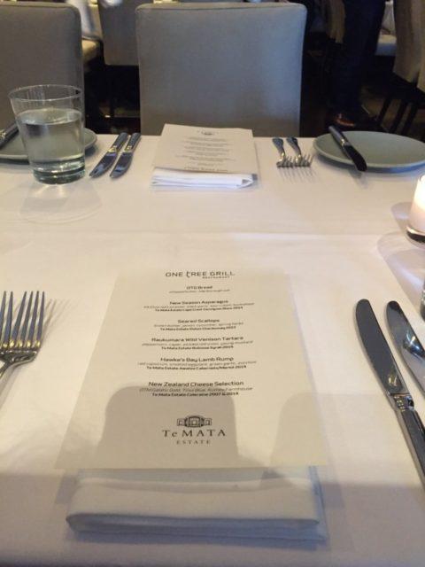 One Tree Grill Te Mata Dinner 2016-1