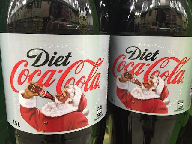 santa drinking diet coke