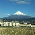 富士市からの富士山。新幹線より