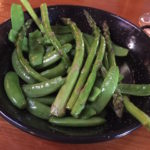 sauted asparagus w green peas