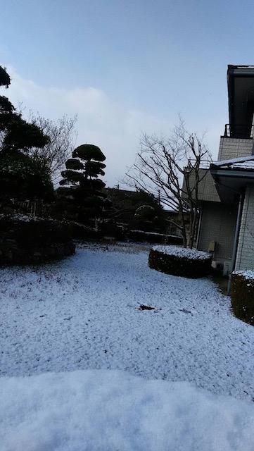 九州某市でも積雪。