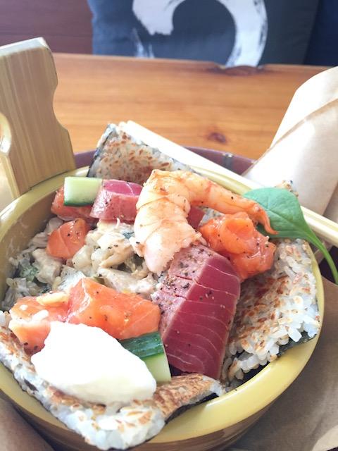 chikos sisig sushi tuna