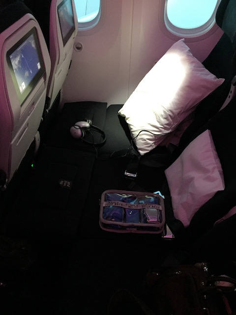 airnz skycouch belt&seat