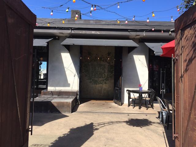 neighbourhood cafe kingsland entrance