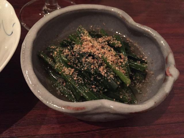 sake bar icco 201705 ohitashi
