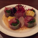 sake bar icco 201705 sashimi spring roll