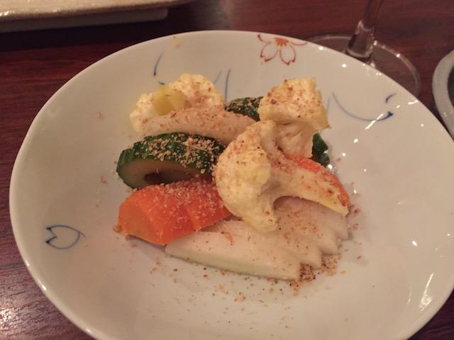 sake bar icco 201705 tsukemono