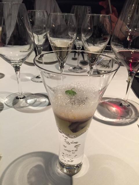kazuya truffle dinner 201707 bubbles