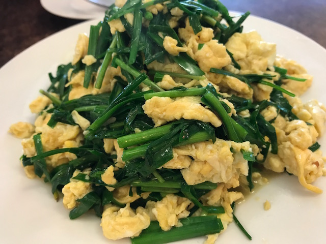 Mr zhou's dumplings 201710 fried egg and chives zoom