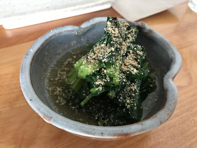 sake bar icco 201801 spinach