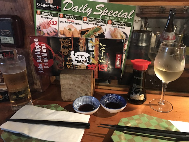 sake bar nippon 201802 counter