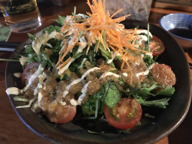 sake bar nippon 201802 garden salad