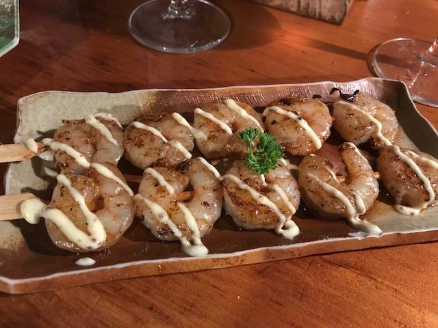 sake bar nippon 201802 prawn kushi