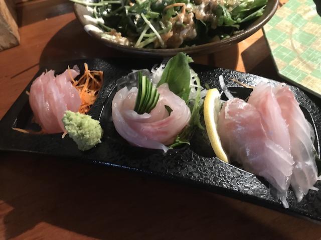 sake bar nippon 201802 sashimi