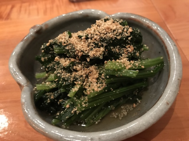 sake bar icco 201804 spinach