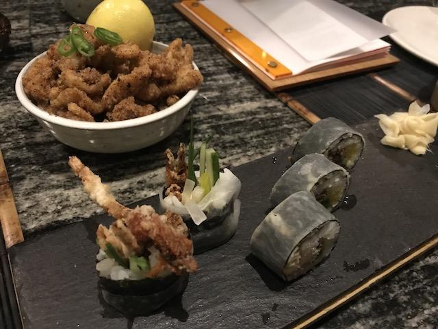masu 201807 sushi & crispy squid