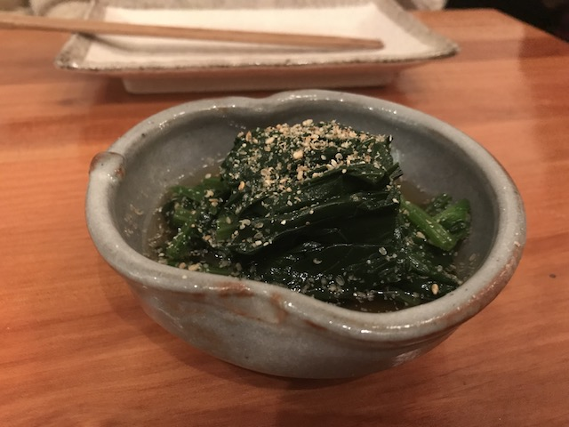 sake bar icco 201806 spinach