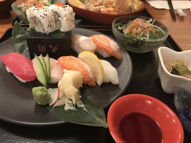 sharaku 201807 sushi teishoku