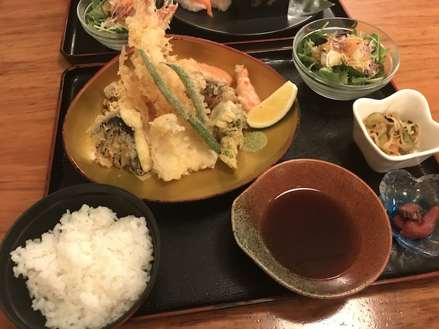 sharaku 201807 tempura teishoku