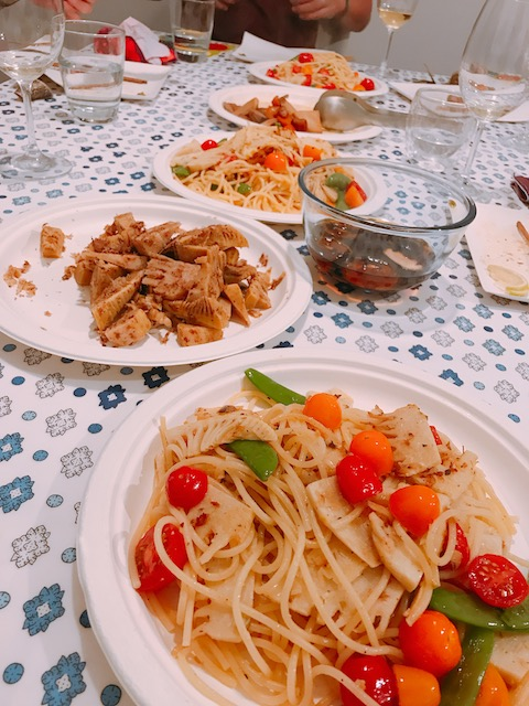 home party 201810 takenoko pasta
