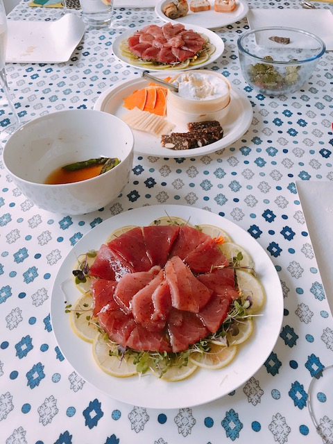 home party 201810 tuna carpaccio