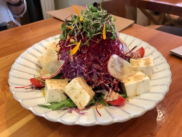 sake bar icco 201810 tofu salad