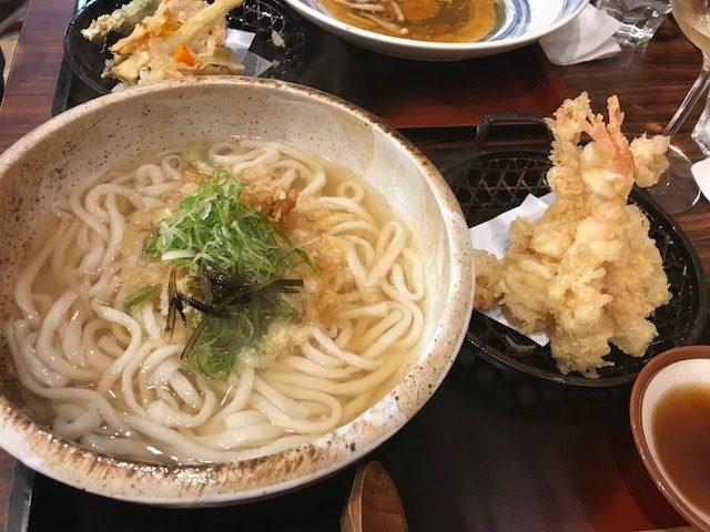 udon works 201903 prawn tempura udon
