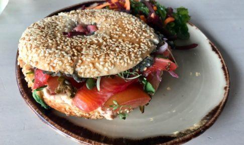 crave 201907 salmon bagle sand