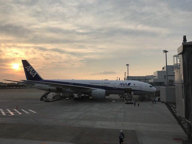 fukuoka airport 201906 sunset