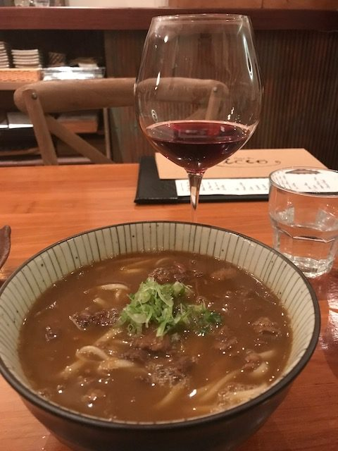 sake bar icco 201907 udon & wine