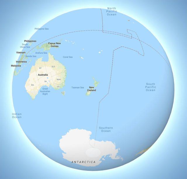 world map new zealand