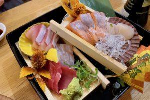 Japanese Lantern Street Bar 201910 sashimi