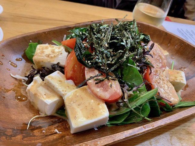 Japanese Lantern Street Bar 201910 tofu salad