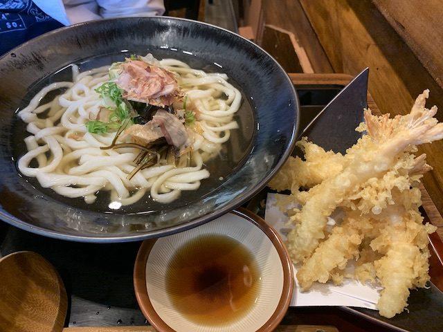 udon works 201911 ebi tempura udon