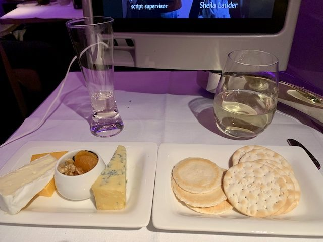 2020 airnz meal cheese
