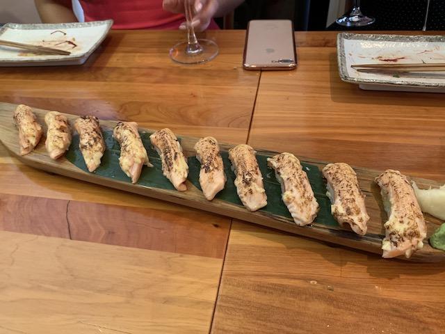 sake bar icco 202001 aburi salmon