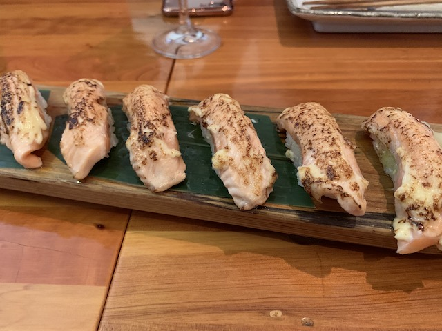sake bar icco 202001 salmon aburi