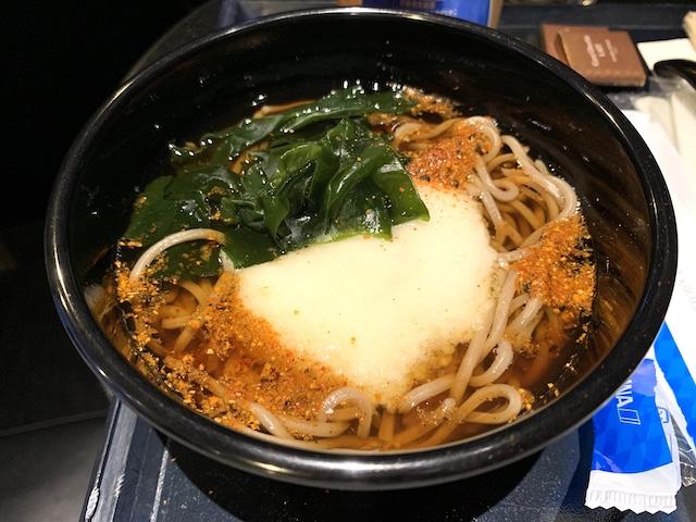 ana suite lounge 202006 soba noodles