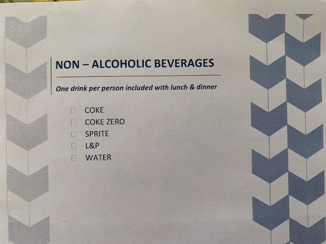 isolation hotel 2020 drink menu