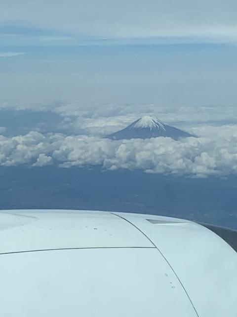 福岡ー羽田で見た富士山